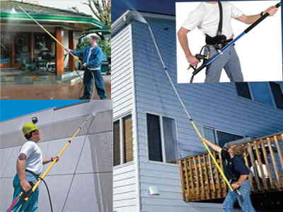 Pressure Washer Telescopic Wand With Gutter Cleaning Tool